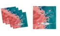 """Ambesonne Narwhal Set of 4 Napkins, 12"""" x 12"""""""