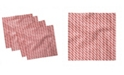 """Ambesonne Candy Cane Set of 4 Napkins, 12"""" x 12"""""""