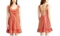City Studios Juniors' Ruffled Open-Back A-Line Dress