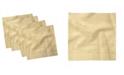 "Ambesonne Gingham Pattern Set of 4 Napkins, 12"" x 12"""