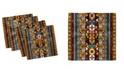 "Ambesonne Kente Pattern Set of 4 Napkins, 12"" x 12"""