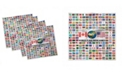"""Ambesonne Flags Set of 4 Napkins, 12"""" x 12"""""""