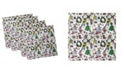 "Ambesonne Doodle Set of 4 Napkins, 18"" x 18"""