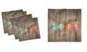 "Ambesonne Happy New Year Set of 4 Napkins, 18"" x 18"""