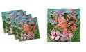 "Ambesonne Flamingo Set of 4 Napkins, 18"" x 18"""