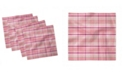 "Ambesonne Tartan Plaid Set of 4 Napkins, 18"" x 18"""