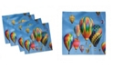 """Ambesonne Colorful Set of 4 Napkins, 18"""" x 18"""""""