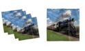 "Ambesonne Steam Engine Set of 4 Napkins, 18"" x 18"""