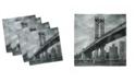 "Ambesonne New York Set of 4 Napkins, 18"" x 18"""