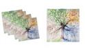 "Ambesonne Tree Set of 4 Napkins, 18"" x 18"""