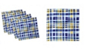 """Ambesonne Abstract Cartoon Set of 4 Napkins, 18"""" x 18"""""""