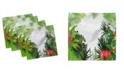 """Ambesonne Leaf Set of 4 Napkins, 18"""" x 18"""""""