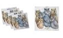 "Ambesonne Owl Set of 4 Napkins, 18"" x 18"""