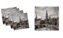 "Ambesonne London Set of 4 Napkins, 18"" x 18"""