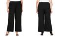 Alex Evenings Plus Size Stretch-Crepe Wide-Leg Pants
