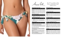 Anne Cole STUDIO Printed Tie-Side Low-Rise Bikini Bottoms
