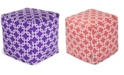 """Majestic Home Goods Links Ottoman Pouf Cube with Removable Cover 17"""" x 17"""""""