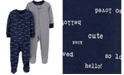 Carter's Baby Boys 2-Pc. Footed Cotton Coverall Set