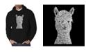 LA Pop Art Men's Alpaca Word Art Hooded Sweatshirt