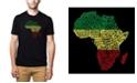 LA Pop Art Men's Premium Word Art T-shirt - Countries in Africa