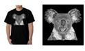 LA Pop Art Men's Word Art - Koala T-Shirt