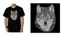LA Pop Art Men's Word Art - Wolf T-Shirt