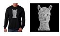 LA Pop Art Men's Word Art - Alpaca Long Sleeve T-Shirt