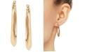 Macy's Medium Polished Hoop Earrings in 14k Gold