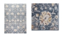 "Global Rug Designs Barnes Bar02 Blue 7'10"" x 10'2"" Area Rug"