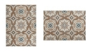 """Global Rug Designs Haven Hav11 Taupe and Blue 5'3"""" x 7'2"""" Area Rug"""