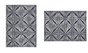 """Global Rug Designs Haven Hav12 Blue and Gray 6'6"""" x 9'6"""" Area Rug"""