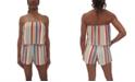 Be Bop Juniors' Popover Striped Romper