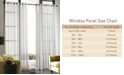 "CHF CLOSEOUT! Sheer Soho Voile Grommet 59"" x 108"" Panel"
