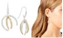 Robert Lee Morris Soho Two-Tone Sculptural Curve Drop Earrings