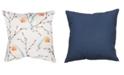 "Small World Home Bird Print 20"" x 20"" Outdoor Decorative Pillow"