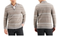 Tasso Elba Men's Intarsia Cashmere Sweater, Created for Macy's