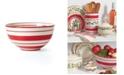 Lenox Holiday Handpaint Stripe Mixing Bowl