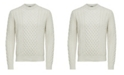 Selected Homme Men's Cable Knit Sweater