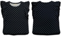 Style & Co Plus Size Dot-Print Flutter-Sleeve Top, Created for Macy's
