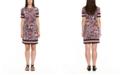 Michael Kors Plus Size Printed Border-Hem Dress