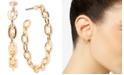 """Zenzii 18k Gold-Plated Medium Fused Link Hoop Earrings, 1.2"""""""