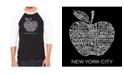 LA Pop Art Neighborhoods in New York City Men's Raglan Word Art T-shirt