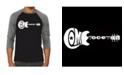 LA Pop Art Come Together Men's Raglan Word Art T-shirt