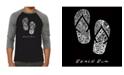 LA Pop Art Beach Bum Men's Raglan Word Art T-shirt
