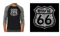 LA Pop Art Get Your Kicks on Route 66 Men's Raglan Word Art T-shirt