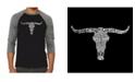 LA Pop Art Names of Legendary Outlaws Men's Raglan Word Art T-shirt