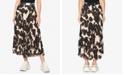 Sanctuary Pleat It Printed Midi Skirt