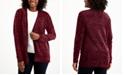 Karen Scott Plus Size Chenille Front-Pocket Cardigan, Created for Macy's