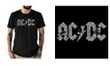 LA Pop Art Men's Premium AC/DC Word Art T-shirt