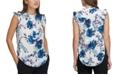DKNY Floral Sleeveless Blouse